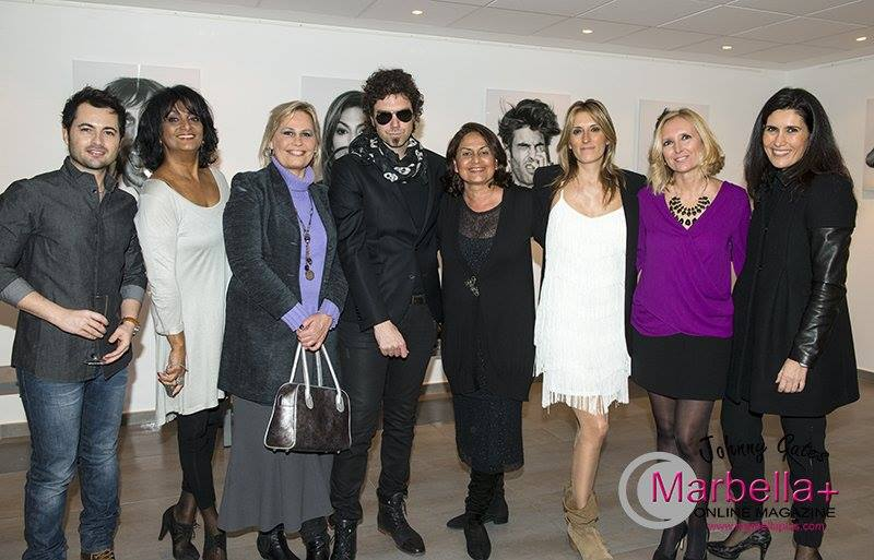 The Man in Black launched his exhibition in Marbella