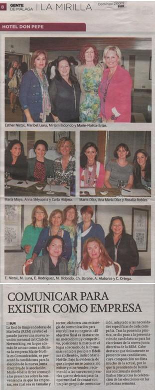 Diario SUR – Suplemento Gente de Málaga – 21/10/12