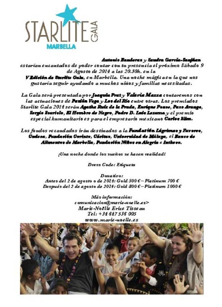 Antonio Banderas apadrina la nueva gala benéfica de Starlite