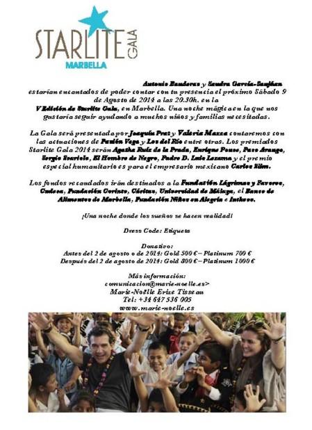 Antonio Banderas sponsors charity at Starlite Gala