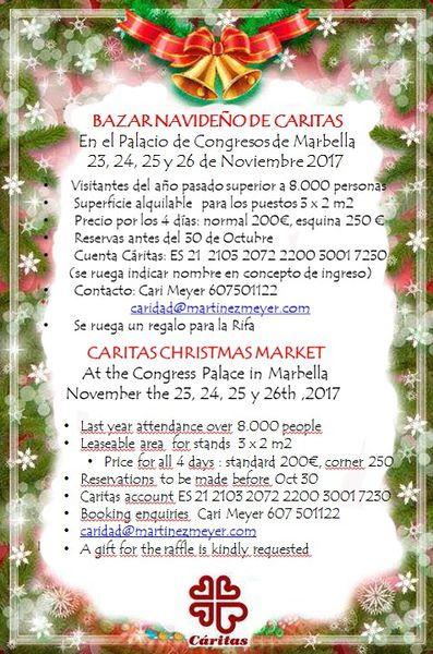 Bazar Navideño de Caritas