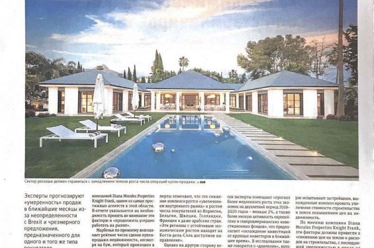 Diario Sur en Ruso publica la noticia del Market Report de Diana Morales  Properties | Knight Frank