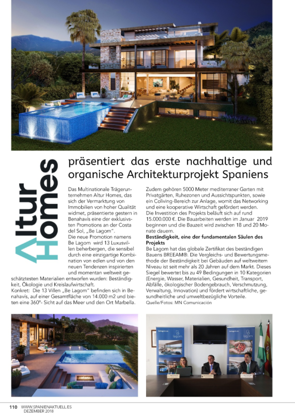 Spanien Aktuell publishes article on Be Lagom
