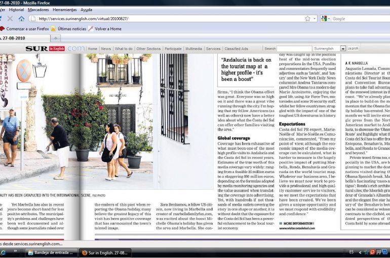 Punto de vista en artículo en SUR in English del 27 agosto 2010