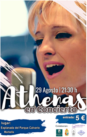 Athenas performing in Marbella for the charity CARITAS