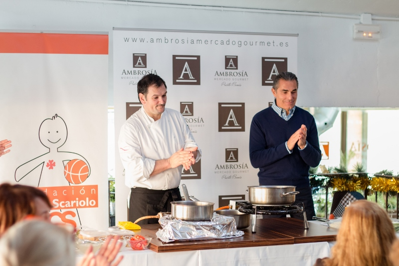 Ambrosía´s Gourmet Market in Marbella hosts a charity cooking class on behalf of the Cesare Scariolo