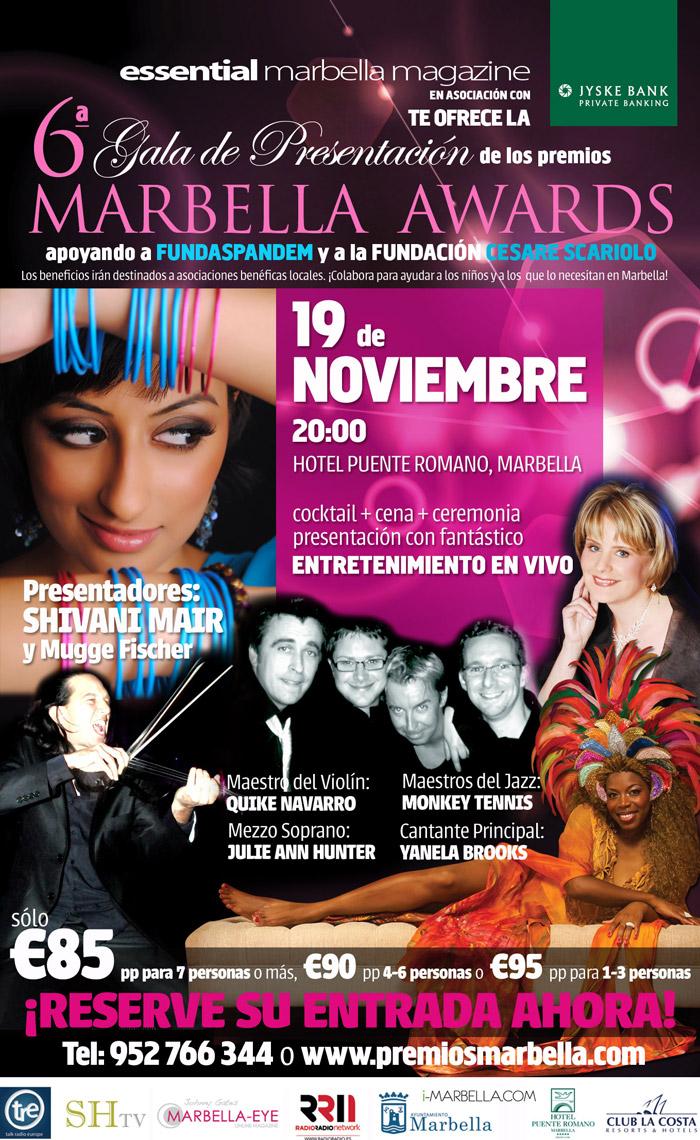 6º Gala MARBELLA AWARDS en Puente Romano