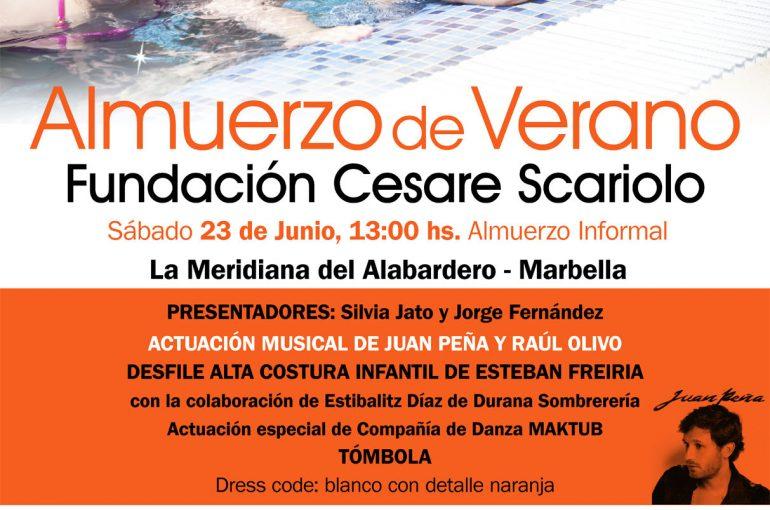 Almuerzo de Verano a favor de la Fundación Cesare Scariolo