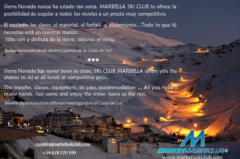 Marbella Ski Club te acerca a Sierra Nevada