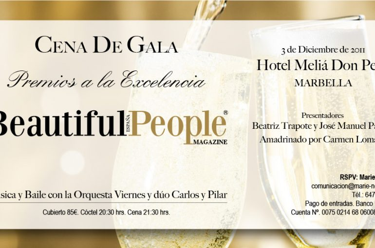 Cena de Gala Premios a la Excelencia, de BEAUTIFUL PEOPLE