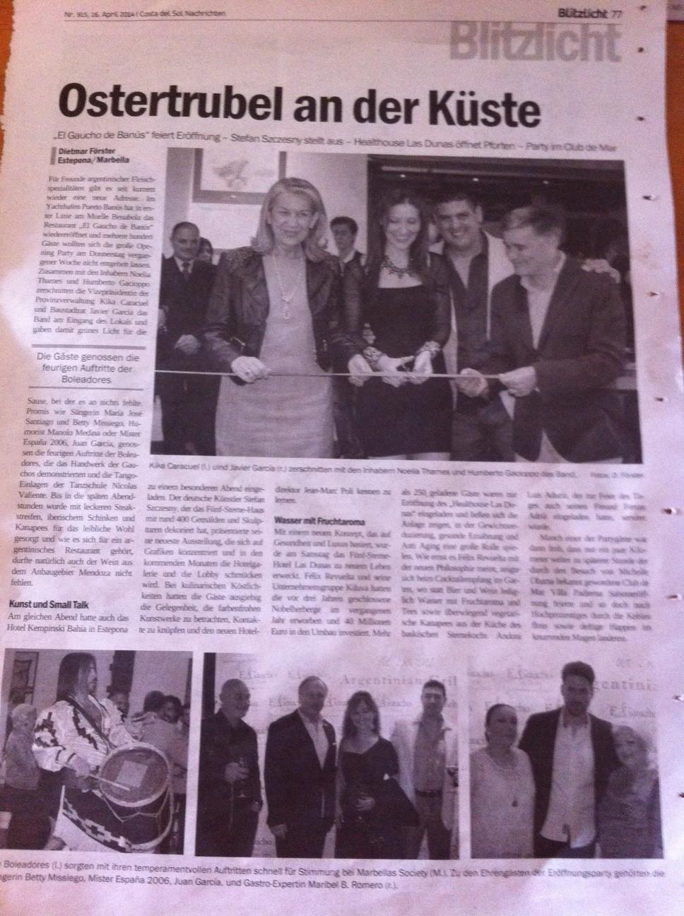 El Gaucho de Banús en Costa del Sol Nachrichten