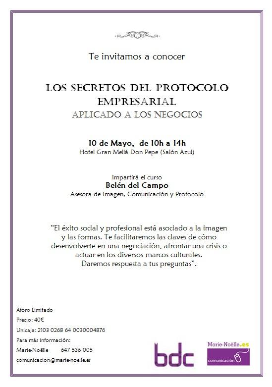 Seminario de LOS SECRETOS DEL PROTOCOLO EMPRESARIAL