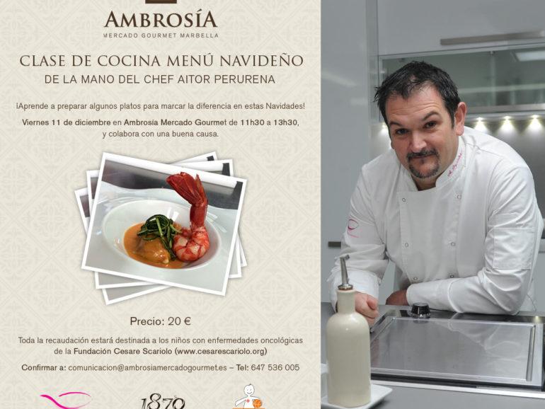 Curso de cocina navideña en Ambrosía Mercado Gourmet