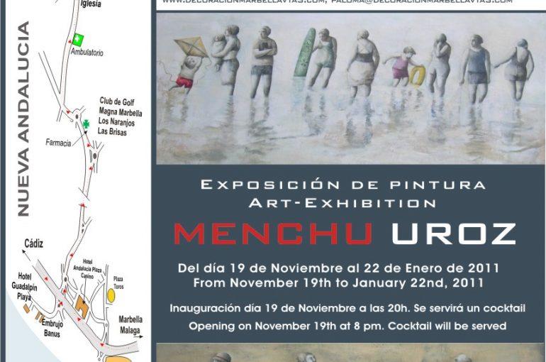 Exposicion de pintura de MENCHU UROZ en VTA3 – Marbella