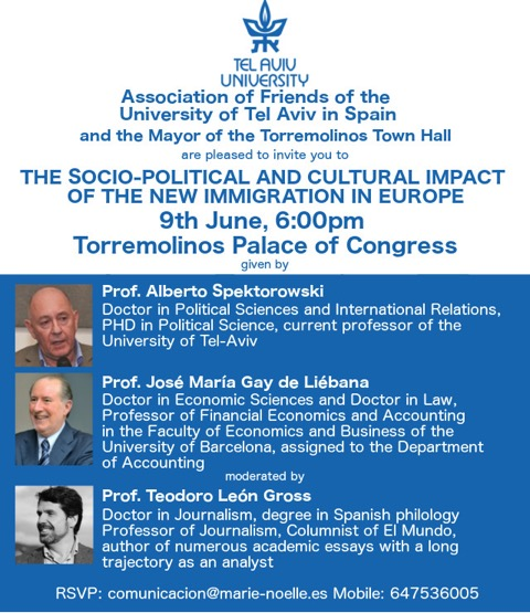 Lecture: 'Socio-Political and Cultural Impact of the new immigration in Europe'