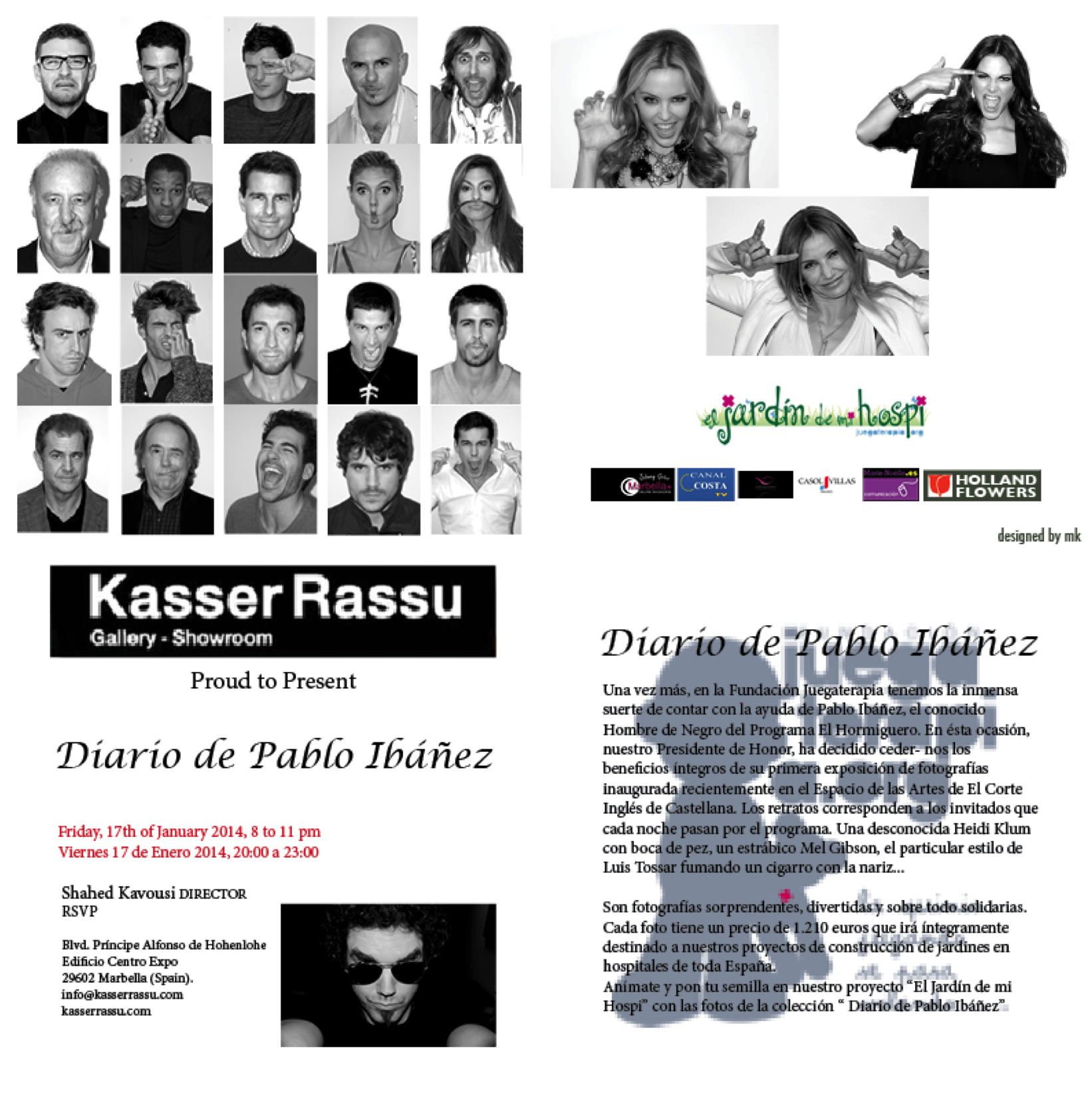 Pablo Ibáñez, the Man in Black, in Kasser Rassu, Marbella