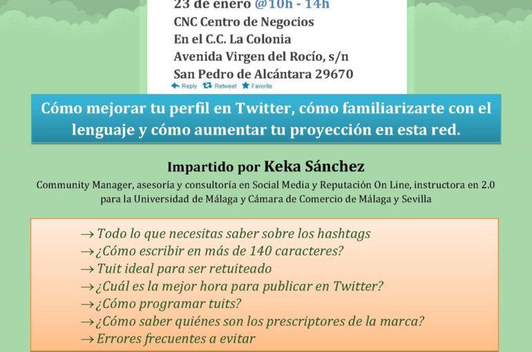 Curso Avanzado de TWITTER – 23 de enero 2013