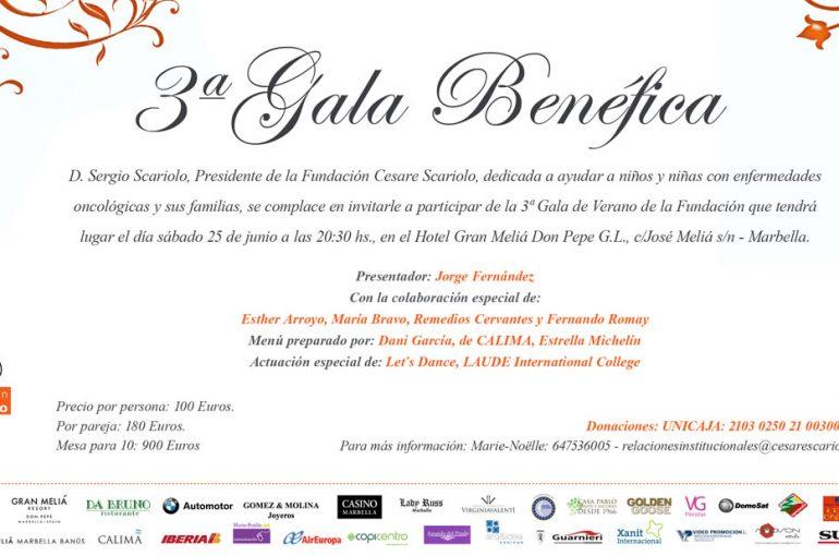 3era gala Benéfica Fundación Cesare Scariolo en Marbella, 25 de junio