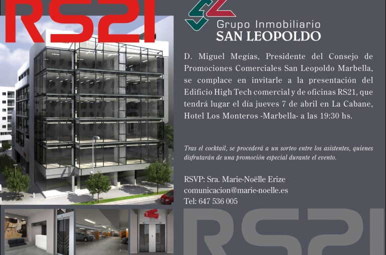 7 de abril: Presentación del Edificio High Tech RS21 en Marbella
