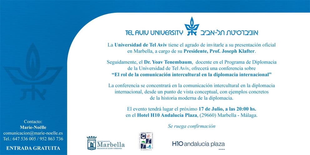 Conferencia de la Universidad de Tel Aviv en Marbella