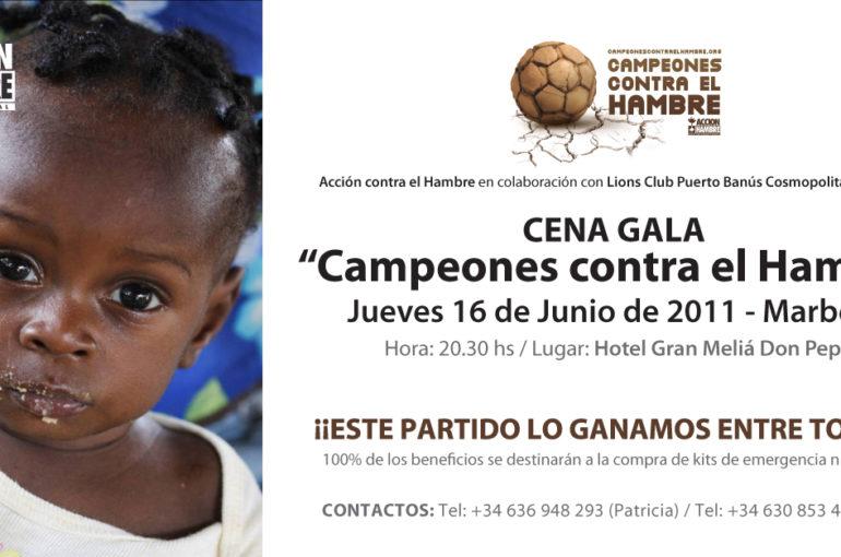 Gala ACCIÓN CONTRA EL HAMBRE – Campeones contra el Hambre