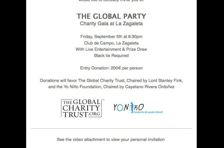 Charity Gala at La Zagaleta