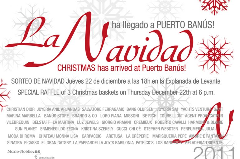 La Navidad ha llegado a Puerto Banús: sorteo el 22 de diciembre a las 18h de 3 cestas especiales