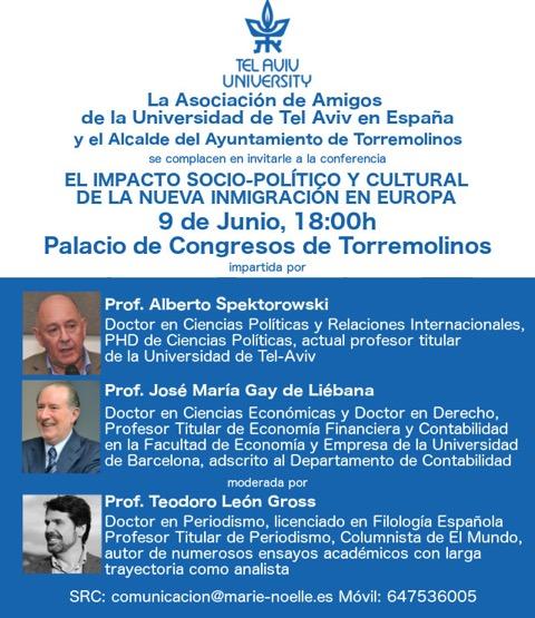 Conferencia: 'Impacto Socio-Político y Cultural de la nueva inmigración en Europa'