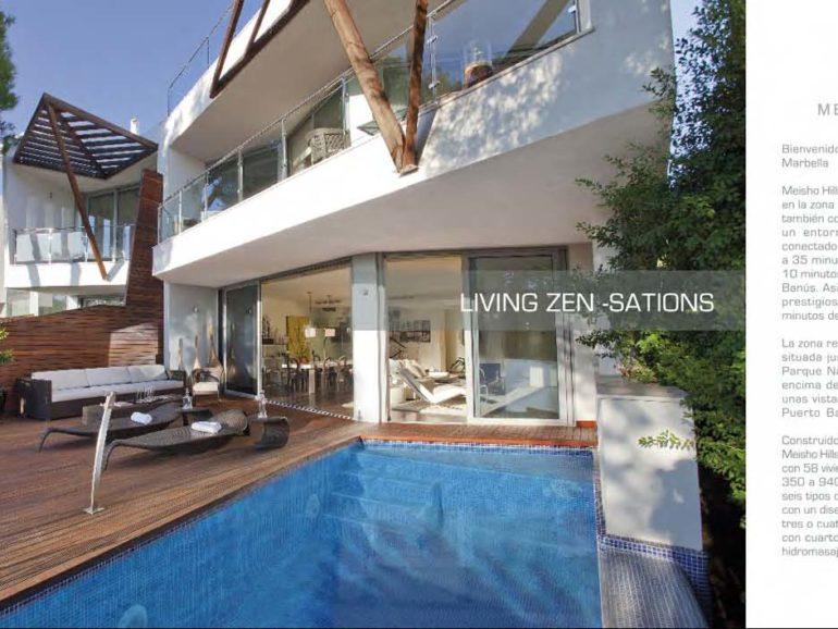 Folleto Meisho Hills, urbanización de lujo en Marbella