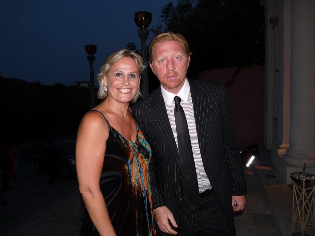 Marie-Noëlle erize con Boris Becker