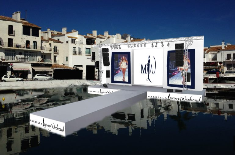 Marbella Luxury Weekend will present the first catwalk on the sea