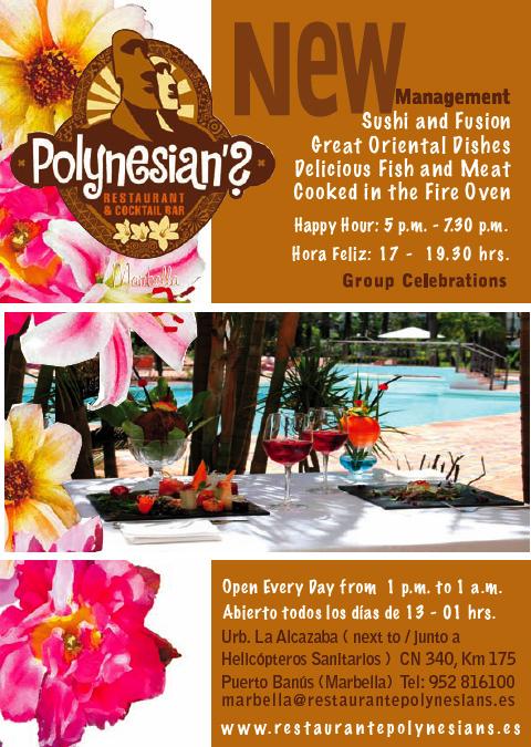 Publicidad Restaurante POLYNESIAN'S de Marbella