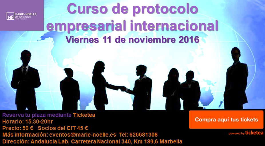 Curso de protocolo empresarial internacional