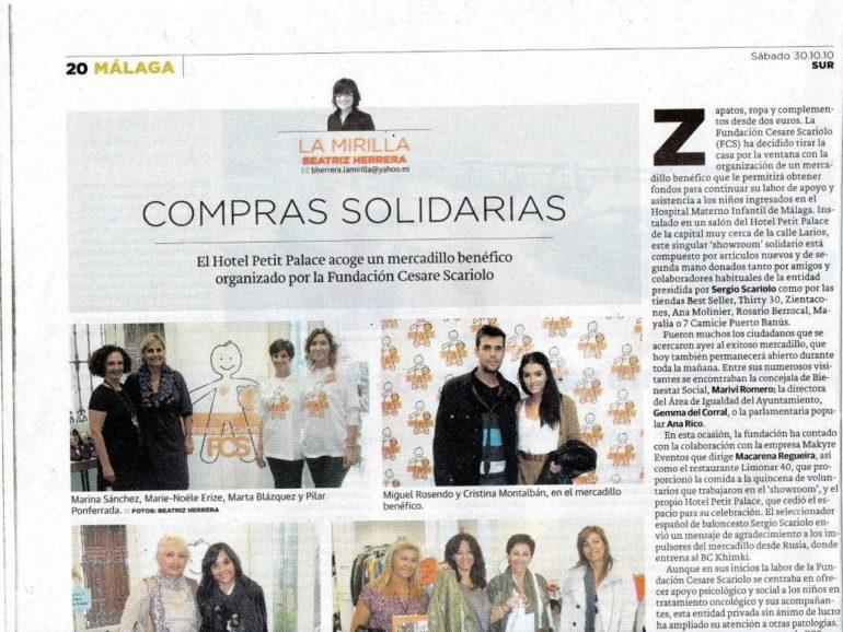 Recorte Diario SUR en La Mirilla – Diario SUR – 30 oct10