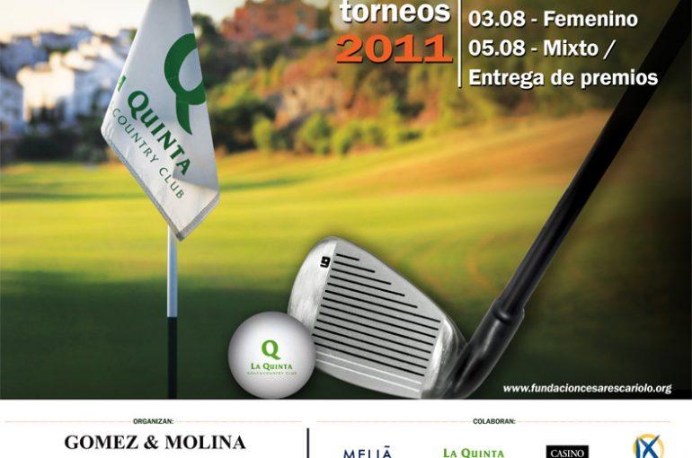 Torneo de Golf Gómez&Molina a favor de la Fundación Cesare Scariolo