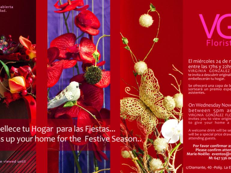 Exposición de artículos florales en VIRGINIA GONZÁLEZ FLORISTA