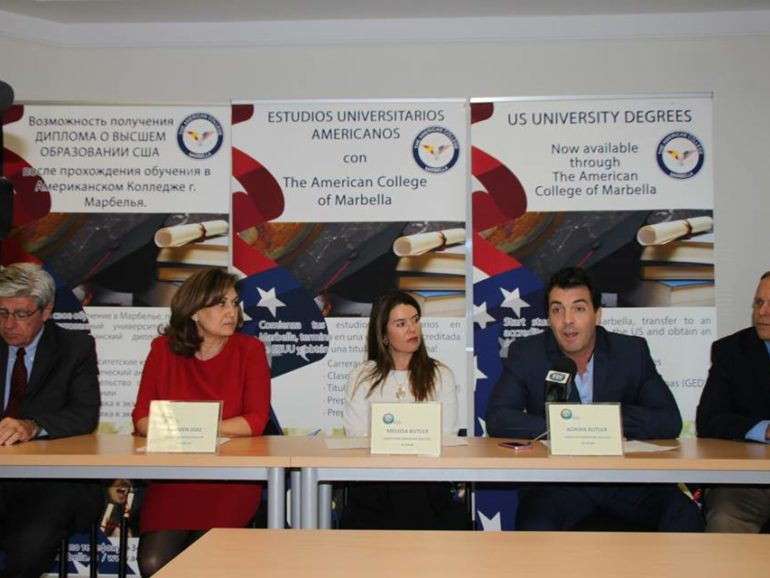 Press conference The American College in Spain and Broward College