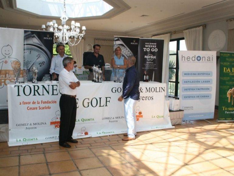X Torneo de Golf Gomez y Molina a favor de la Fundación Cesare Scariolo