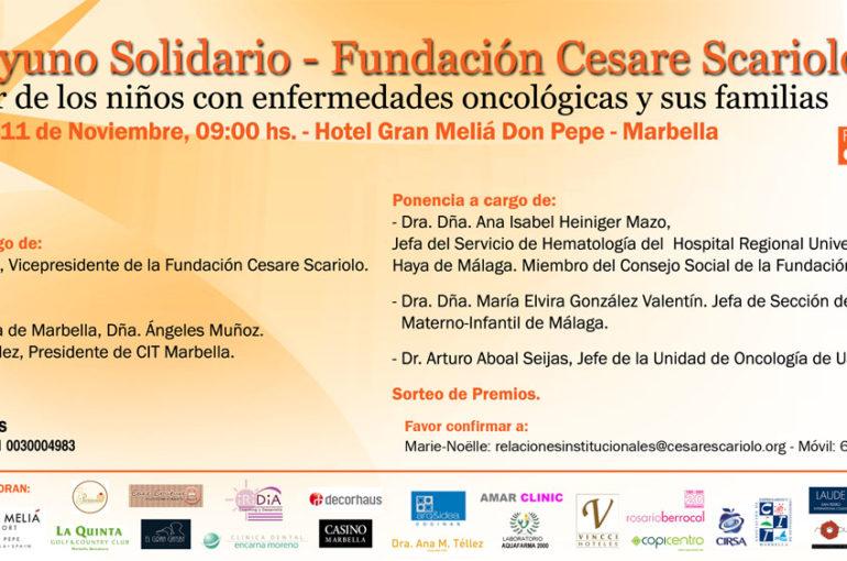 II Desayuno Solidario a favor Fundación Cesare Scariolo
